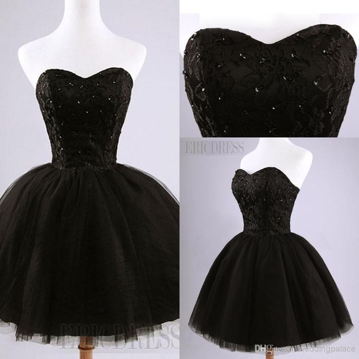 2016 Black Hot Prom Party Dresses Pretty Strapless Beading Lace Up Back Short Homecoming Dress Best Homecoming Dresses Cheap Plus Size Homecoming Dresses From Weddingpalace, $67.02| Dhgate.Com