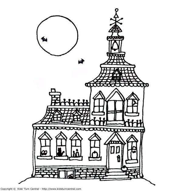 Haunted House Color Sheets