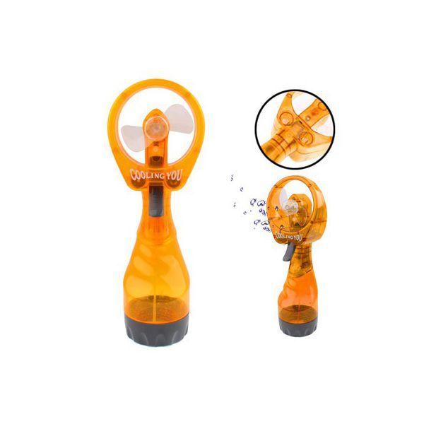 Mini ventilateur brumisateur portable jet d'eau rafraîchisseur Orange