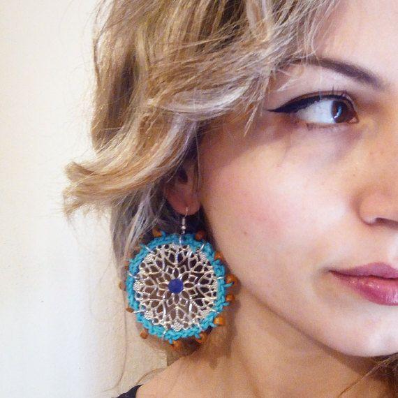 ON SALE boho earrings crochet earrings jewelry gypsy
