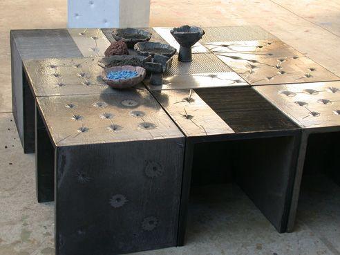 Tavolini in pietra lavica / Lava stone tables / tables en pierre lavique #EmblemaOpificio #deco #art #interior #design #casa #interni #decorazione #home #maison #Emblema #Opificio