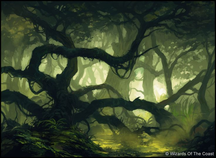 MTG - Swamp by andreasrocha on deviantART  This reminds me a little bit of the Bog in my story.