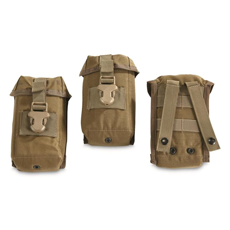 U.S. Military Surplus Coyote Padded MOLLE Optics Case, 3 Pack, New