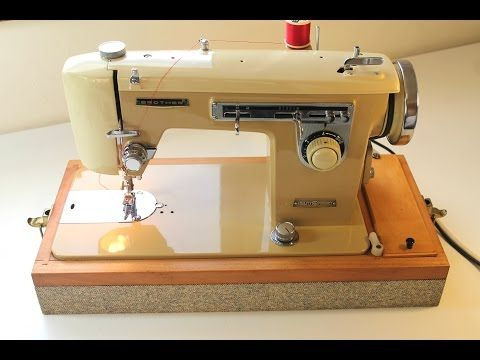 How to use a vintage sewing machine brother 345 - YouTube