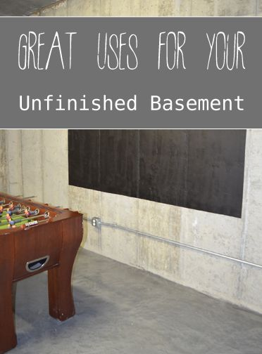 Unfinished basements basements and chalkboards on pinterest for Unfinished basement floor ideas