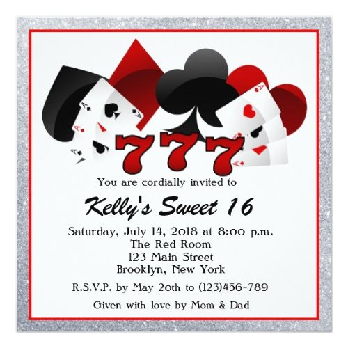 120 best Casino Birthday Party Invitations images – Casino Birthday Party Invitations