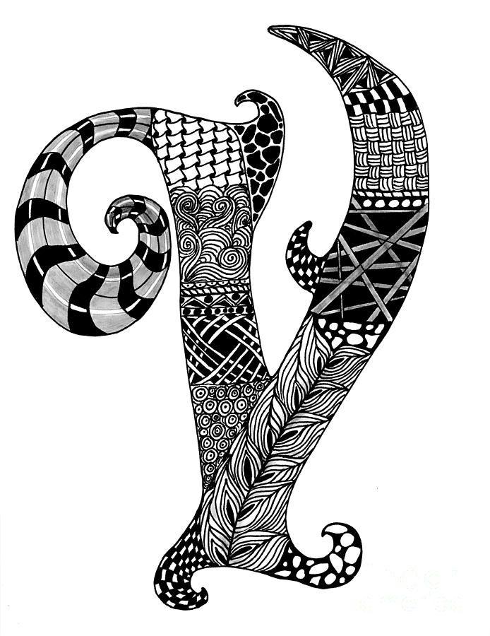 Zentangle Letters S