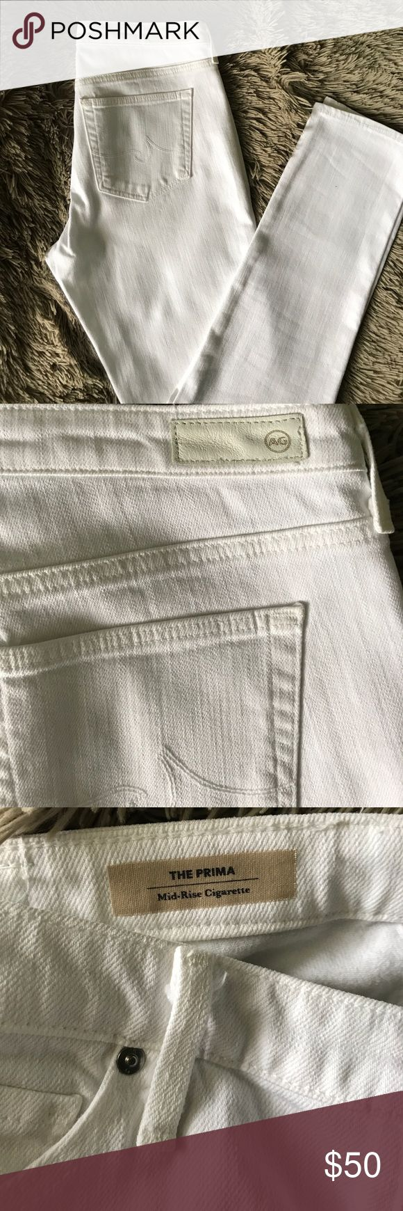 AG jeans AG jeans, The Prisma mid-rise cigarette AG Adriano Goldschmied Pants Skinny