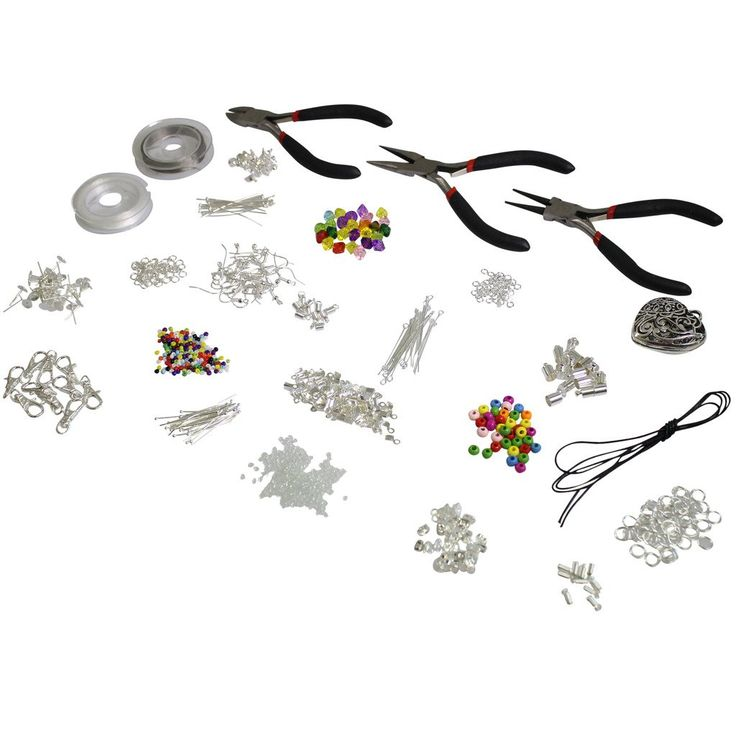 1000 pezzi Kit Starter per fare gioielli Alta Qualita - Reperti, Perline, Cordini, Tigertail, accessori placcati argento di Kurtzy TM: Amazon.it: Casa e cucina
