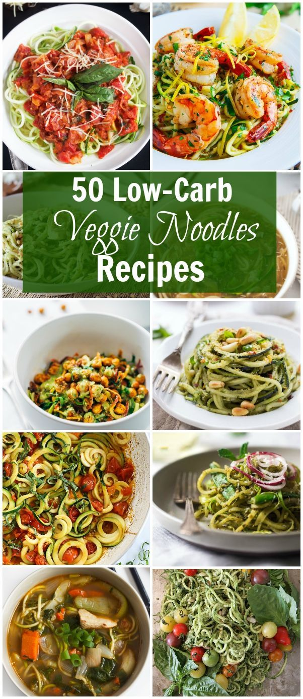 50 Low-Carb Veggies Noodles Recipes - Here are the best and most flavourful veggie noodle recipes around the internet to make your life easier and all in one place!