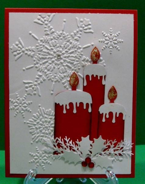 Christmas Candles by raindear - Cards and Paper Crafts at Splitcoaststampers