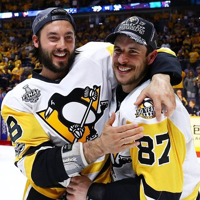 Kris Letang and Sidney Crosby / Pittsburgh Penguins - 2017 Stanley Cup Champions.