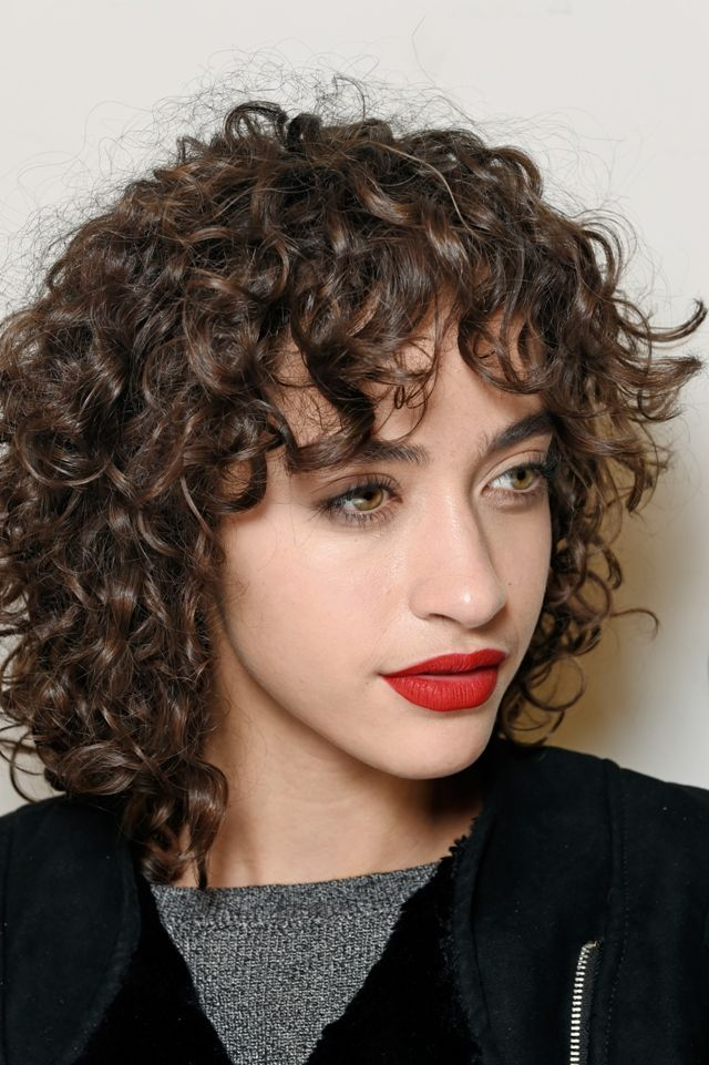 Curly Hairstyles With Bangs Prepossessing 459 Best Long And Short Curly Hair Images On Pinterest  Curly Bob