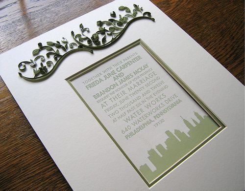 Quilled Wedding Invitation