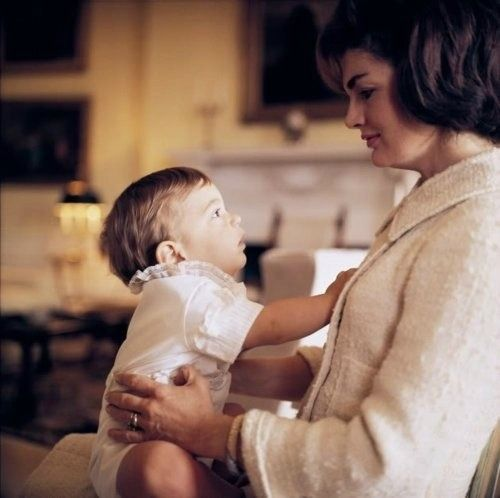 """I always wished I could have participated more in those first shining hours with him [Jack], but at least I thought I had given him our John, the son he longed for so much."" - Jackie Kennedy"