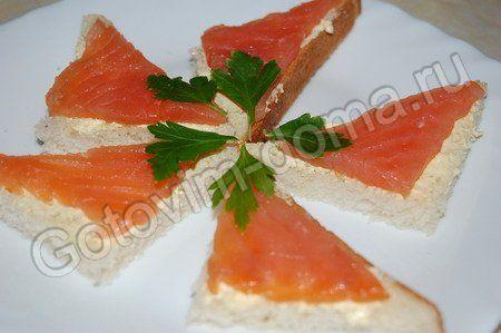 рецепт Бутерброд с красной рыбой классический // рецепты с фотографиями