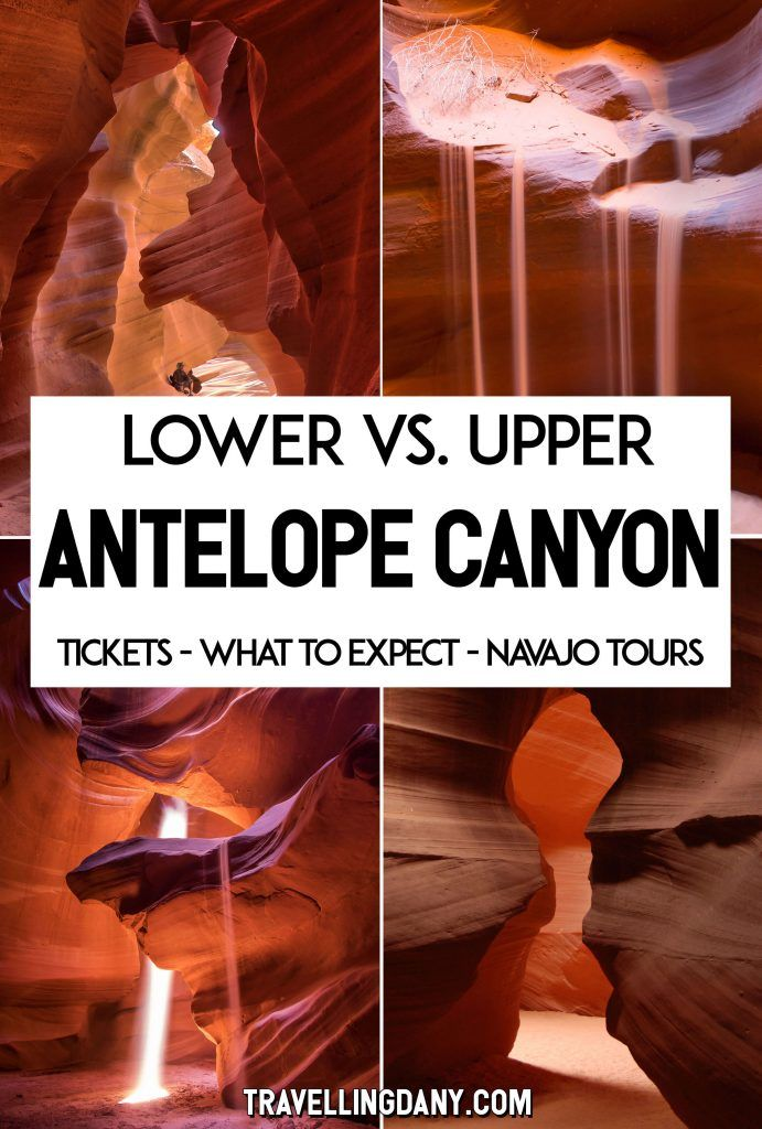 Upper vs. Lower Antelope Canyon (USA): which one is better and what should you expect? Let's see how to get there, which one to choose, and how to plan your trip to make sure you get the best out of this breathtaking natural wonder. It includes tips on how to take beautiful pictures also without a photography tour! | #AntelopeCanyon #USA #Arizona #photography #Travel