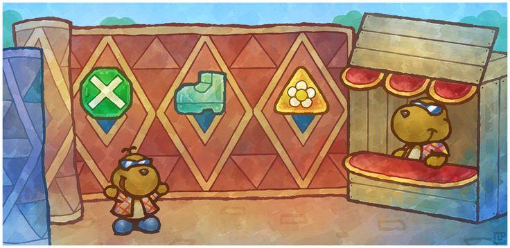 Paper Mario 64: Rowf's Badge Shop by Cavea.deviantart.com on @DeviantArt