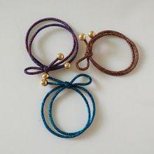 Nouveau 2015 filles élastique cheveux corde détenteurs de queue de cheval bead charm liens bandeaux femmes accessoires cheveux…
