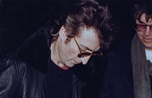 This picture of John Lennon is taken just hours before a member of the greatest band ever, The Beatles, was assassinated. This story made headlines and was devastating to many people.