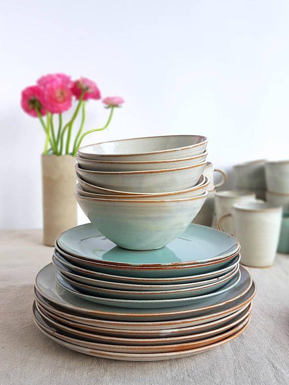 Stoneware Dinnerware Set Mix And Match Dinnerware Set Etsy Handmade Dinnerware Ceramic Dinnerware Set Stoneware Dinnerware Sets Mix and match dinnerware sets