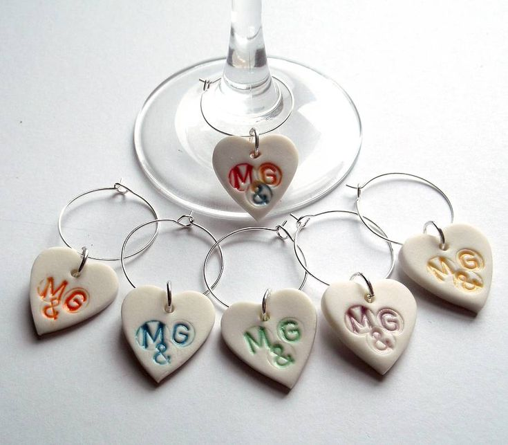 personalised wine glass charms by melissa choroszewska ceramics | notonthehighstreet.com