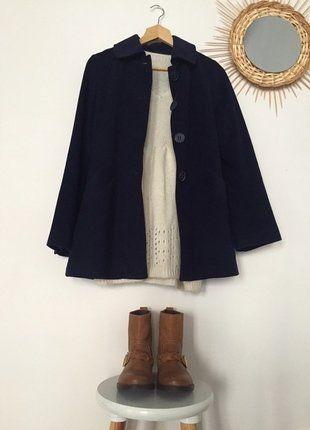 À vendre sur #vintedfrance ! http://www.vinted.fr/mode-femmes/cabans/30029097-manteau-style-paletot-mango-bleu-marine-ts