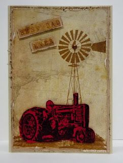 BaRb'n'ShEll Creations-Kaszazz Tractor and windmill - BaRb