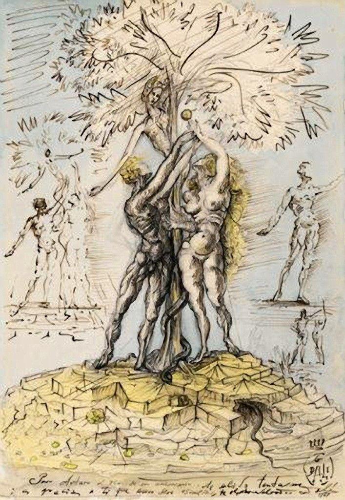 Adam Et Eve Salvador Dal 237 Adam Et Eve 1948 Salvador