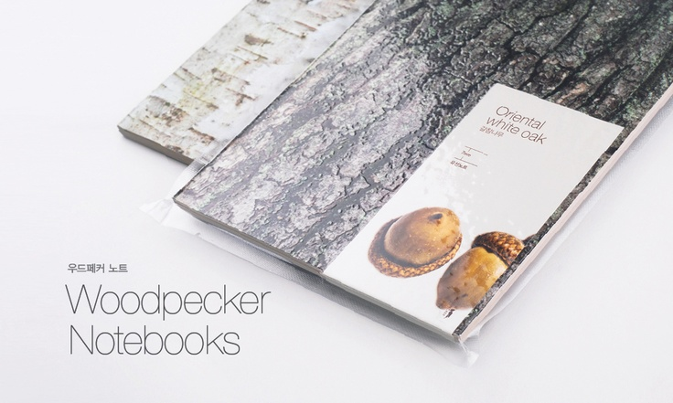 Woodpecker Notebooks  Ruled notebook  Tree rings and knots are well arranged for writing.