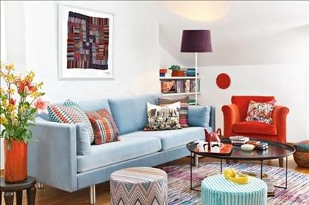 light blue sofa - Skonahem