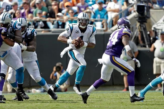 Vikings manhandle Cam Newton in win over the Panthers