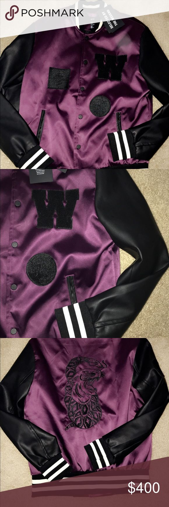 The Weeknd H&M fall 2017 purple letterman's jacket Perfect accessory for this fall, or even a great Christmas gift, or if you are a super fan of the Grammy award winning, XO singer The Weeknd, this must-have jacket was sold exclusively at H&M for there fall collection, it sold out within minutes. (Never been worn and in great condition) H&M Jackets & Coats Bomber & Varsity