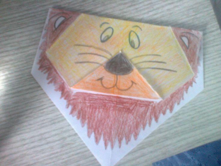 origami lion...λιονταράκι.. for kinds..