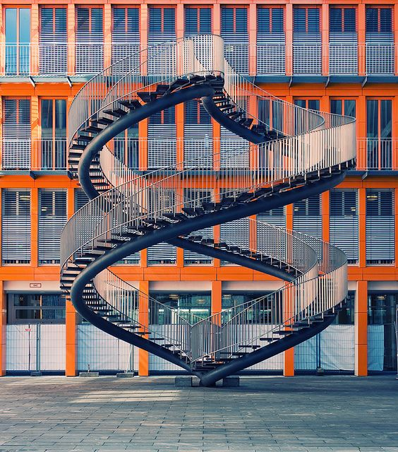 Endless Stairs in Munich, Germany: Building, Spirals Stairs, Spirals Stairca, Endless Stairs, Munich Germany, Art, Architecture, Photography, Philippe Blades