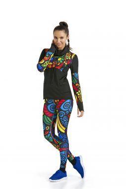 Kolorowe Legginsy Colored Mosaic II - OSLK-04L