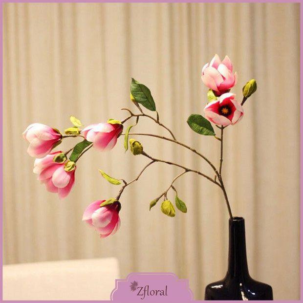 Haute Qualité Magnolia Fleur Artificielle Real Touch Soie Bouquet 7 Tête Fleurs Pour Le Mariage Chambre Décoration Creative Party Cadeau dans Fleurs décoratives & Couronnes de Maison & Jardin sur AliExpress.com   Alibaba Group
