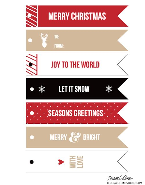 Free Holiday Gift Tag Printable