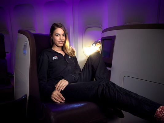 The Virgin Atlantic Onesie will Help You Sleep like a Baby on Board #travel #luxury trendhunter.com