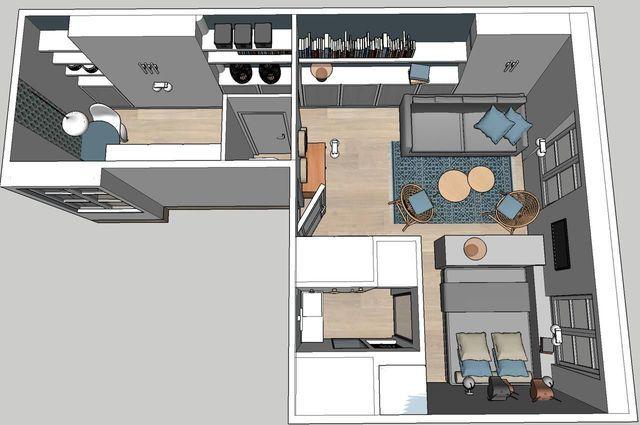 Des chambres de bonnes transformées en studio contemporain