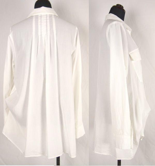synanogues 53(シナノーグ) 長袖オーバーシャツ・ブラウス|ホワイト|スキッパーシャツ|(13ss)【送料無料】