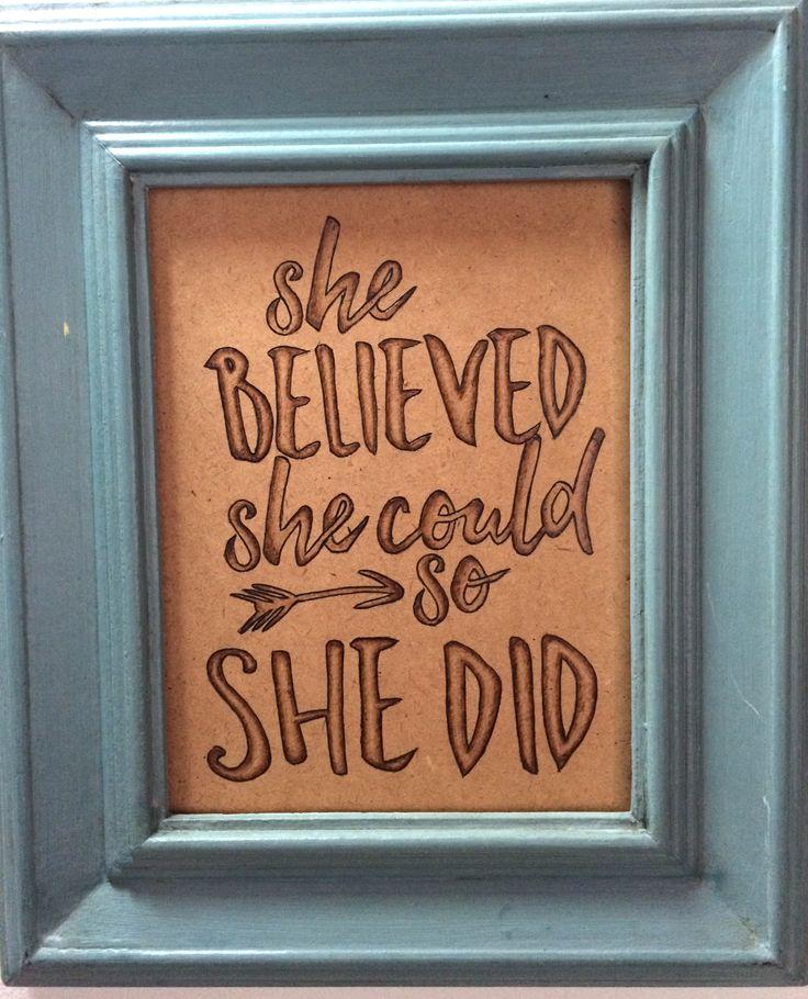 """She believed she could so she did"" 🍃 Enthusiastic beginner.   ""Ella creyó que podría así que pudo""🍃 Principiante entusiasmada."