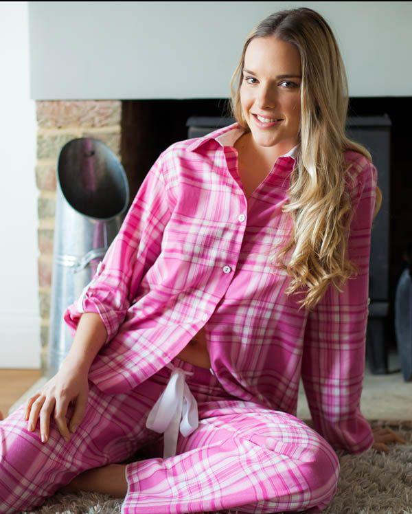 Pearl Long Sleeve Check Pyjamas