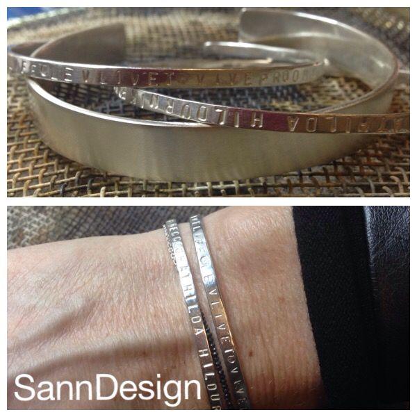 Handmade silver bracelets