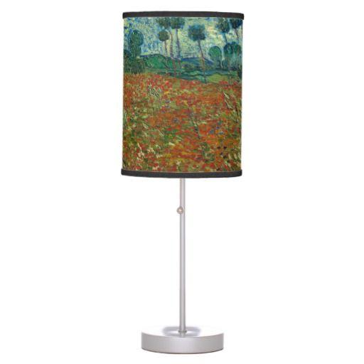 Vincent van Gogh - Poppy field Desk Lamps