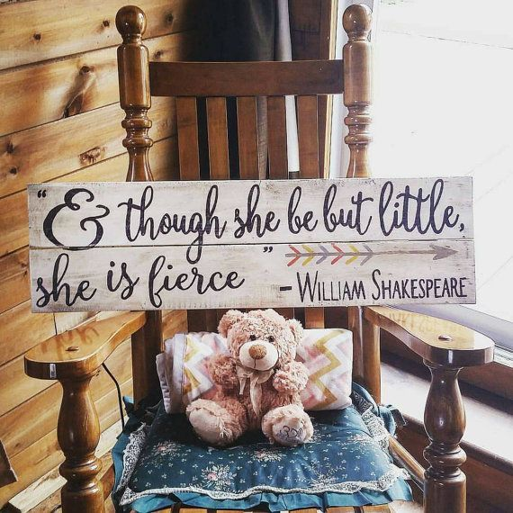 Check out this item in my Etsy shop https://www.etsy.com/ca/listing/455470748/and-though-she-be-but-little-she-is