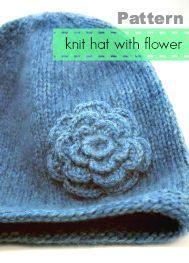 Chapéu de malha padrão grátis - salvo por criações de amor