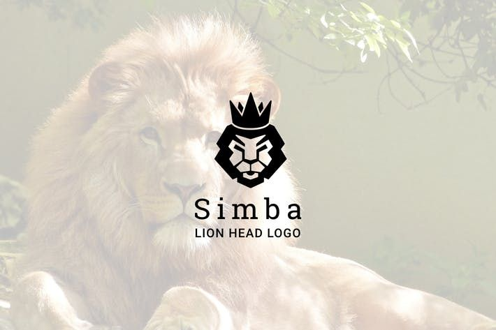 Simba : Negative Space Lion Head Logo #lion #king  • Download here → http://1.envato.market/c/97450/298927/4662?u=https://elements.envato.com/simba-negative-space-lion-head-logo-VYR9NP
