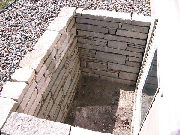 stone basement window well basement pinterest search wells