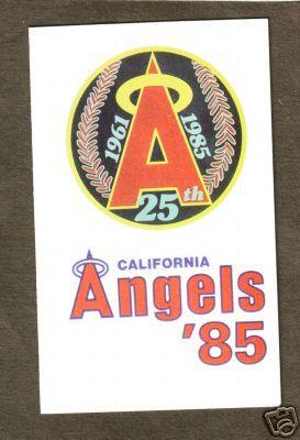 1985 CALIFORNIA ANGELS POCKET SCHEDULE | eBay